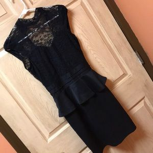 Lace top sleeveless open back